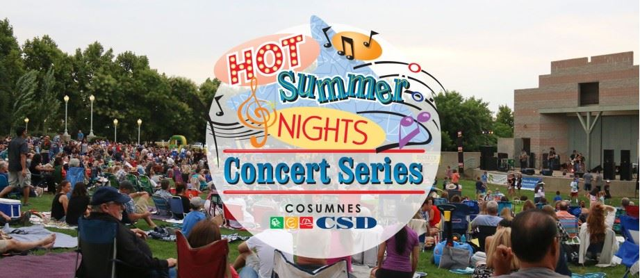 Hot Summer Night Concert crowd and logo