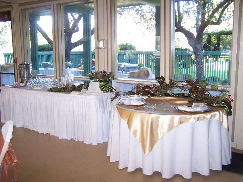 Sample setup of a buffet table at the reception hall