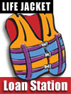 Life Jacket Loan Station Graphic