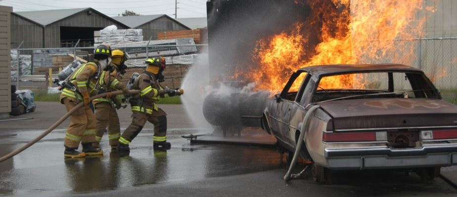 Fire Training Car Burn