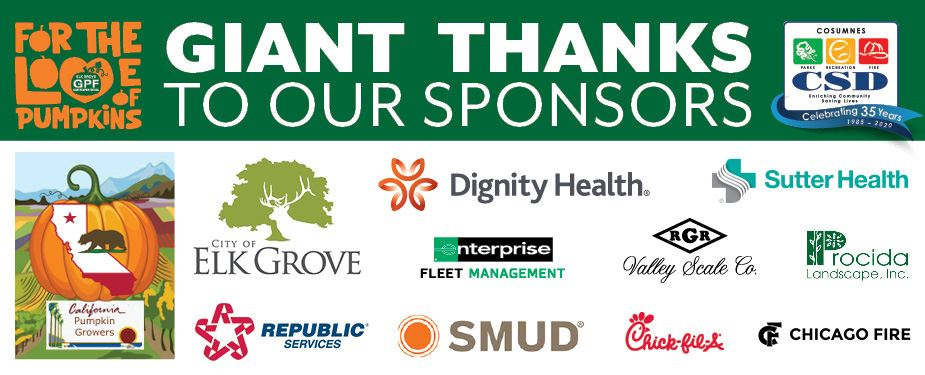 2020 Giant Pumpkin Festival Sponsors - Giant Thanks!