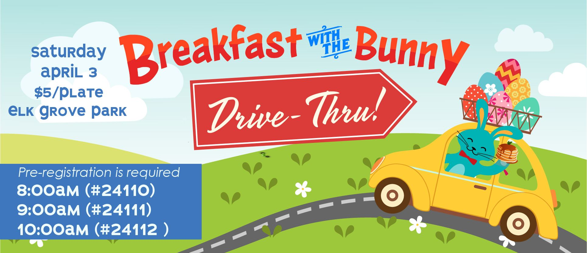 Graphic Image for Breakfast with the Bunny Drive Through Event