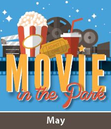 Movie in the Park Logo with Month