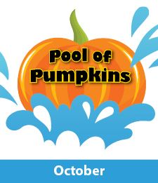 Pool of Pumpkins logo with October Month