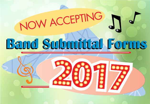 Now Accepting Band Submittal Form 2017