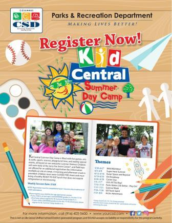 Image of Kid Central Summer Camp 2017 Flier