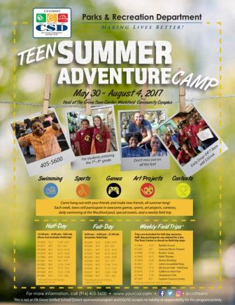 Image of Teen Summer Camp 2017 Flier
