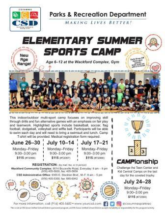 Thumbnail Image of Elementary Summer Sports Camp 2017 Flier