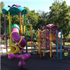 New colorful playground equipment installed at Foulks Park.