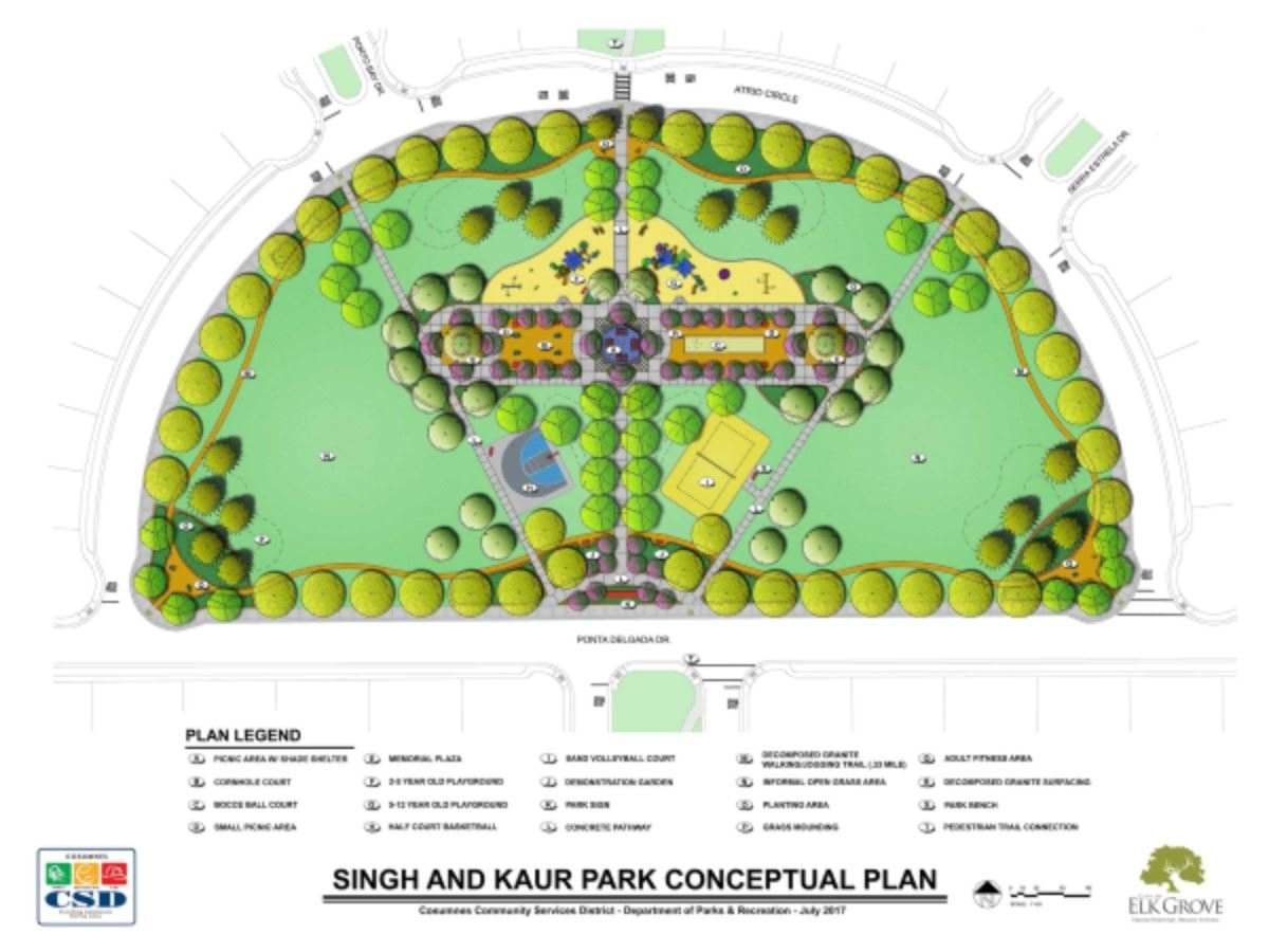 Singh and Kaur Park Conceptual Plan