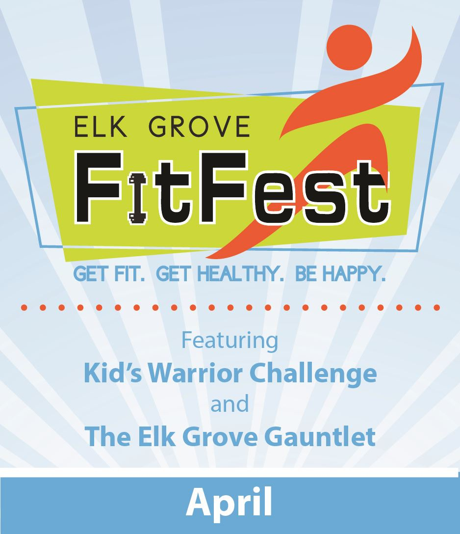 FitFest logo featuring Kids Warrior Challenge and the Elk Grove Gauntlet
