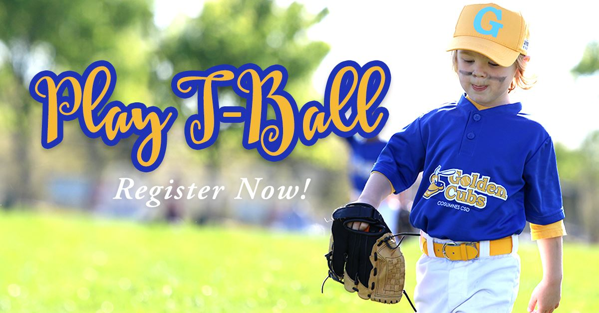 Play T-Ball! Register Now!