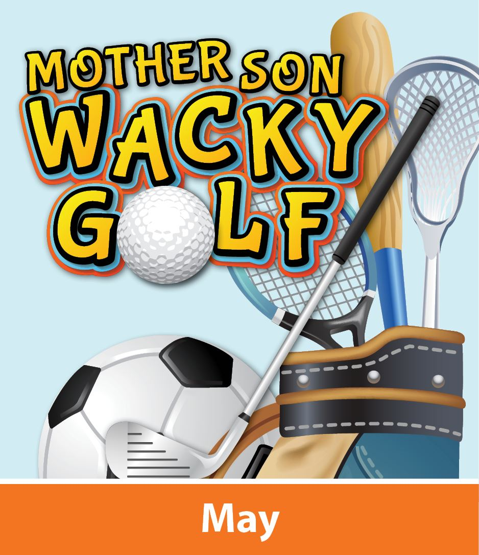 Mother Son Wacky Golf Logo May