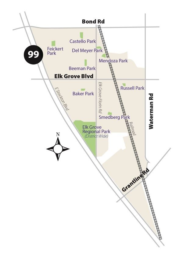 Benefit Zone 6 Map - Central Elk Grove