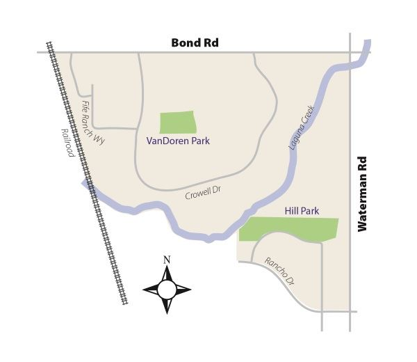 Benefit Zone 16 Map - Fallbrook/Park Lane/Britschgi Park