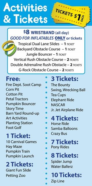 Pumpkin Festival Kids Area Tickets  Prices