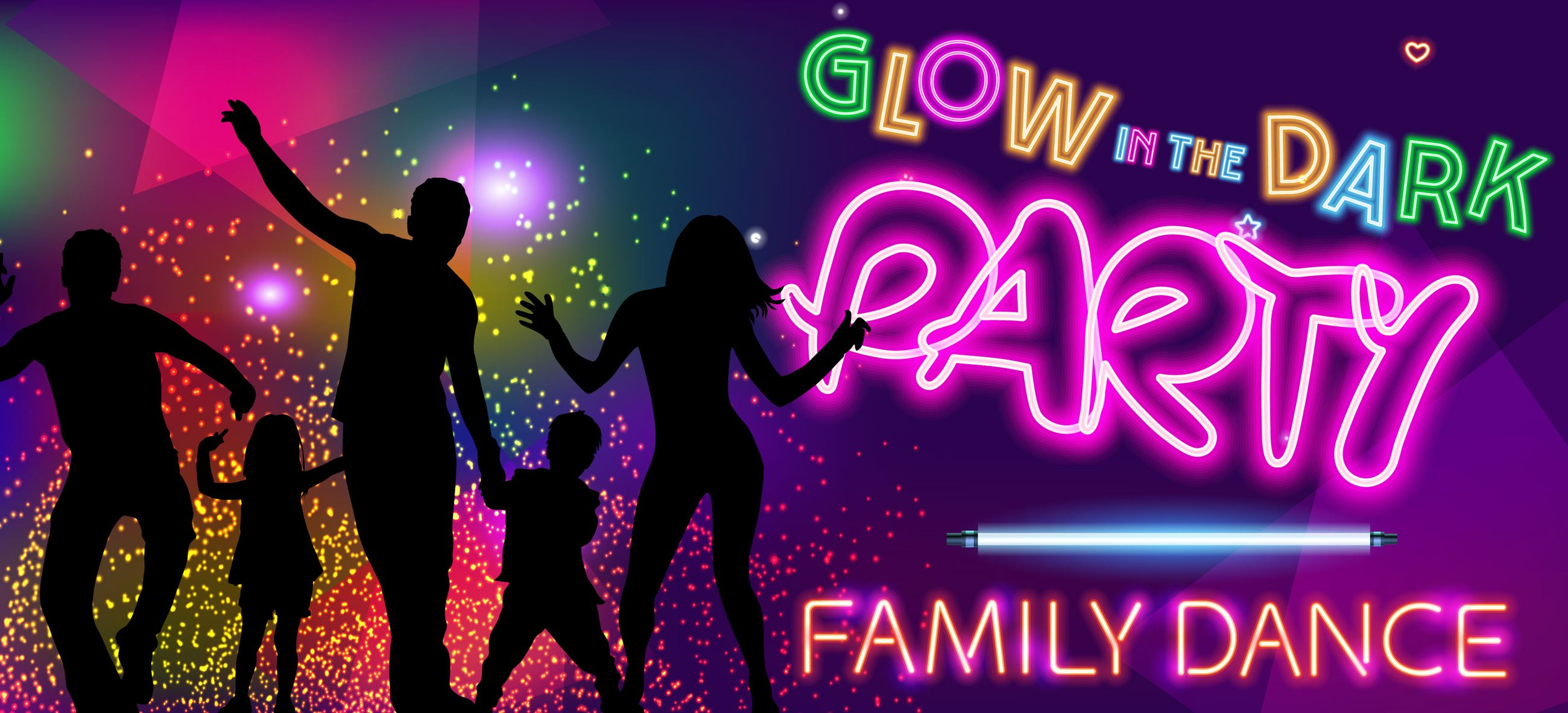 Family Dance Glow in the Dark Party