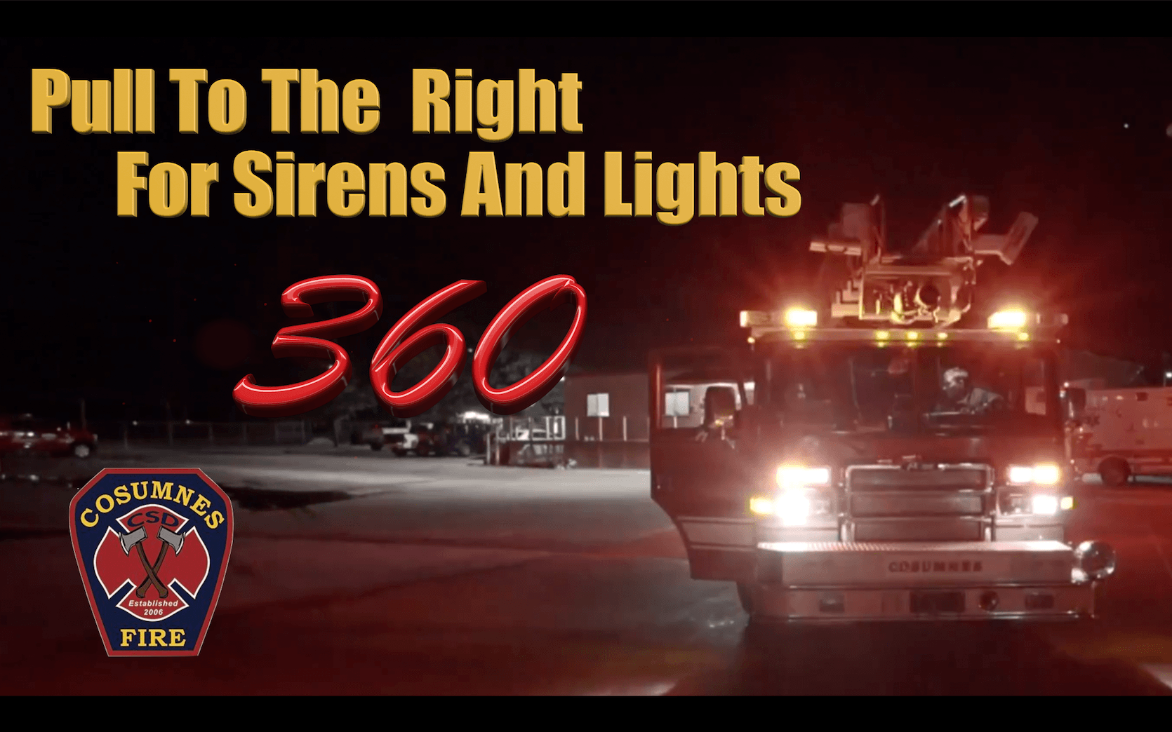 Pull To The Right For Sirens And Lights