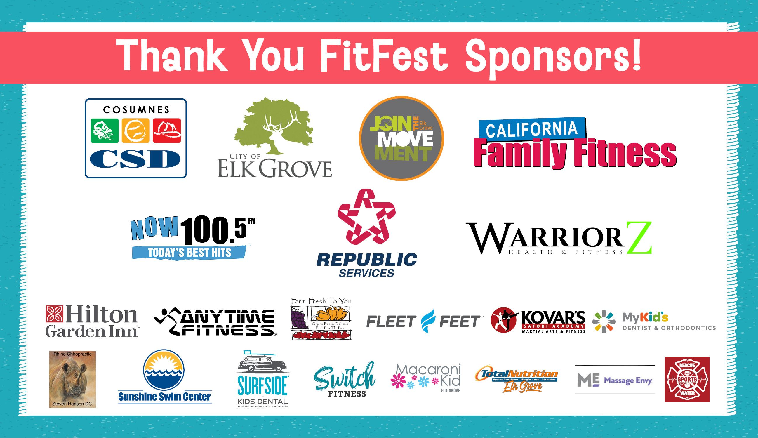 Thank you FitFest Sponsors Image