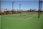Fantastically clean tennis courts at Bartholomew Sports Park