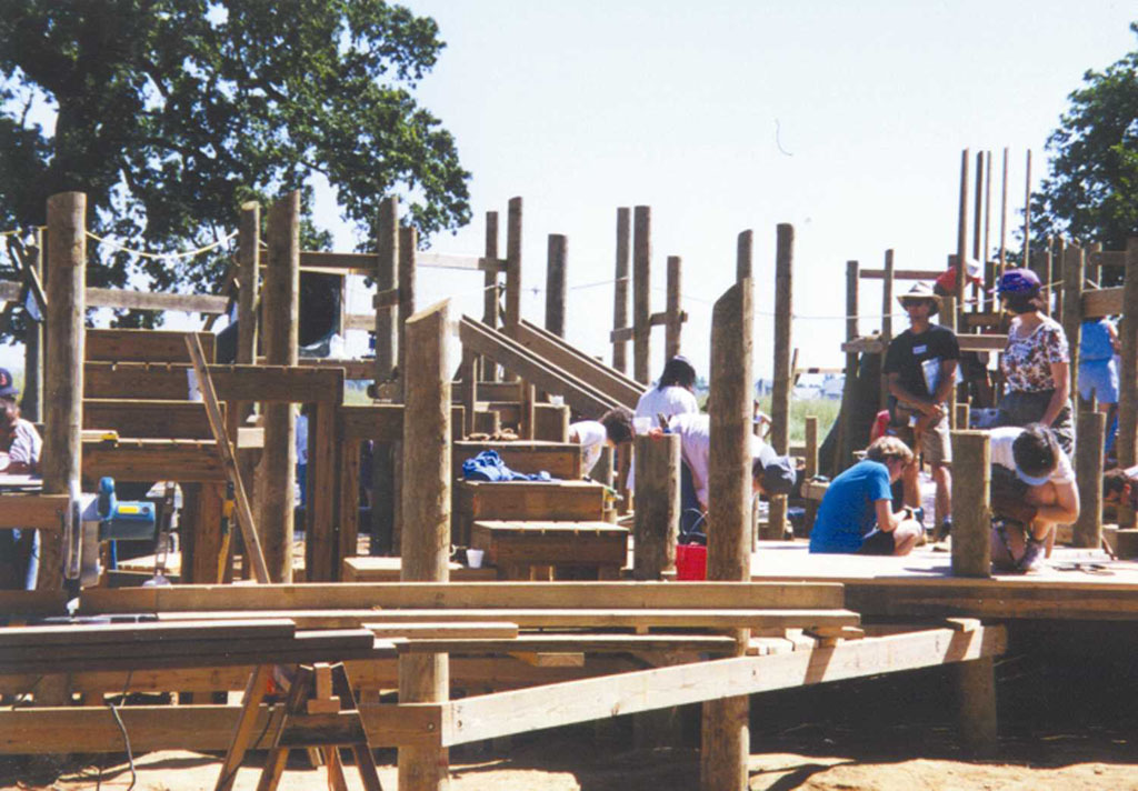 Citizens Building the Playground